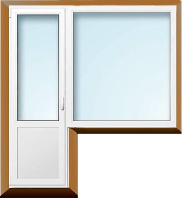 Балконный блок профиль Рехау