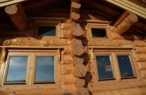 Изготовление и монтаж окон Рехау для домов из бруса, бревна в Днепре